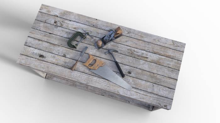 outillage pour travailler le bois pour faire un lit gigogne soi même